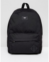 schwarzer Segeltuch Rucksack von Vans