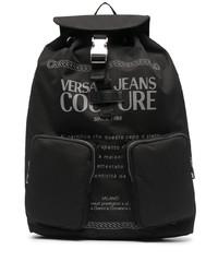 schwarzer Segeltuch Rucksack von VERSACE JEANS COUTURE