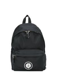 schwarzer Segeltuch Rucksack von Versus