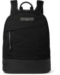 schwarzer Segeltuch Rucksack von WANT Les Essentiels