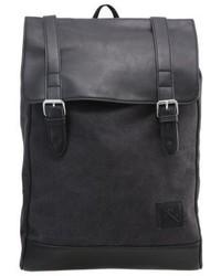 schwarzer Segeltuch Rucksack von YOURTURN
