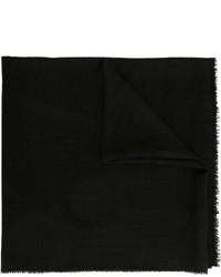 schwarzer Seideschal mit Blumenmuster von Chanel