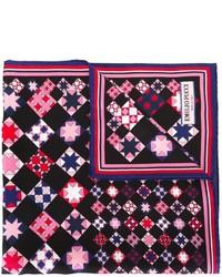 schwarzer Seideschal mit geometrischem Muster von Emilio Pucci