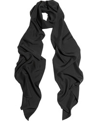 schwarzer Seideschal von Lanvin