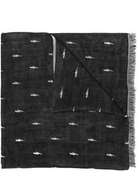 schwarzer Seideschal von Neil Barrett
