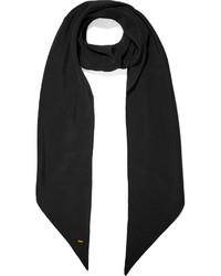schwarzer Seideschal von Saint Laurent
