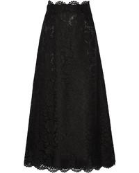 schwarzer Spitze Maxirock von Valentino
