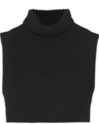 schwarzer Strick kurzer Pullover von Victoria Beckham