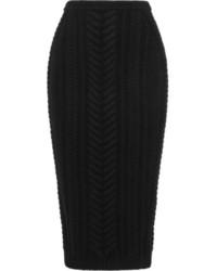 schwarzer Strick Midirock von Balmain