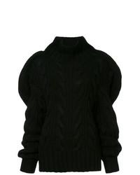 schwarzer Strick Oversize Pullover von Aalto