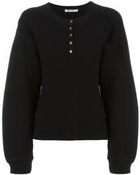 Schwarzer Strick Oversize Pullover von Alexander Wang