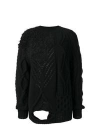 schwarzer Strick Oversize Pullover von Almaz