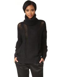 schwarzer Strick Oversize Pullover von DKNY