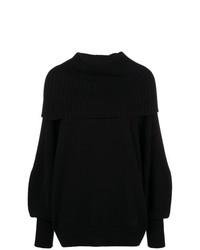 schwarzer Strick Oversize Pullover von Givenchy