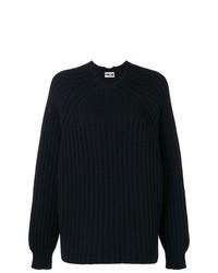 schwarzer Strick Oversize Pullover von Hache