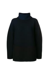 schwarzer Strick Oversize Pullover von Issey Miyake