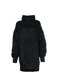 schwarzer Strick Oversize Pullover von Maison Margiela
