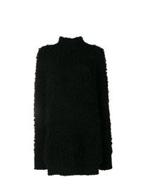 schwarzer Strick Oversize Pullover von Marni