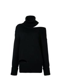 schwarzer Strick Oversize Pullover von Monse