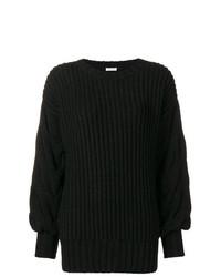 schwarzer Strick Oversize Pullover von P.A.R.O.S.H.