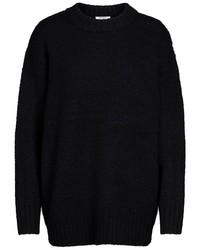 schwarzer Strick Oversize Pullover von Pieces