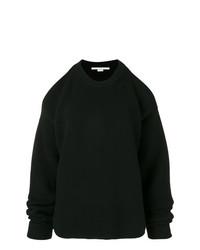 schwarzer Strick Oversize Pullover von Stella McCartney