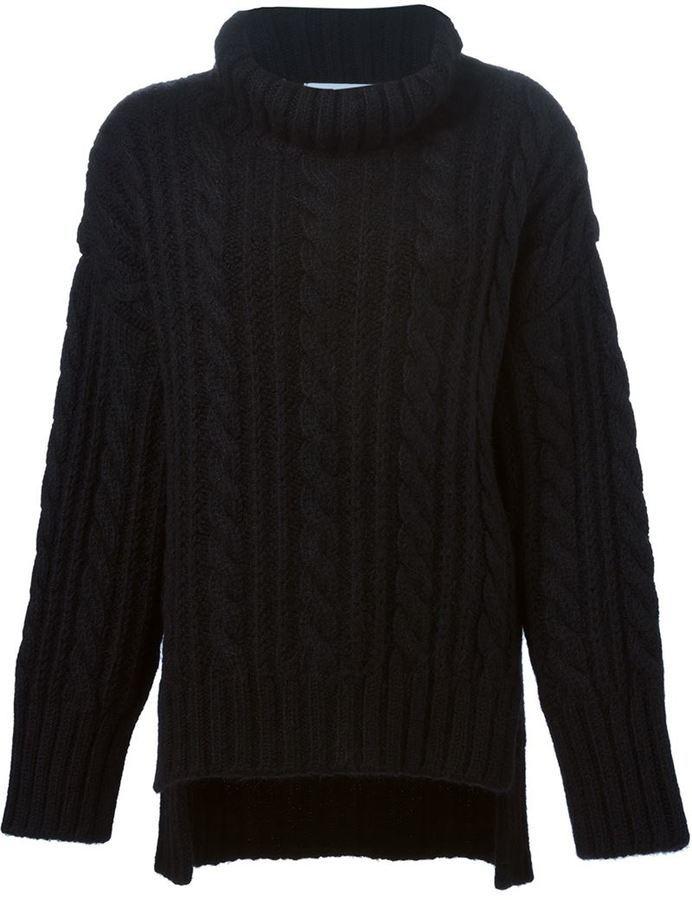 8bd2c00a620a schwarzer Strick Oversize Pullover von Viktor   Rolf   Wo zu kaufen ...