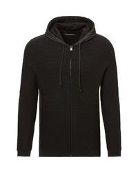 schwarzer Strick Pullover mit einem Kapuze von Marc O'Polo