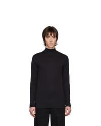 schwarzer Strick Rollkragenpullover von Lemaire