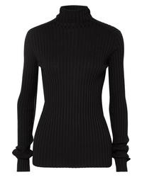 schwarzer Strick Rollkragenpullover von Victoria Beckham