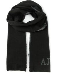 schwarzer Strick Schal von Armani Jeans