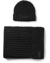 schwarzer Strick Schal von Belstaff