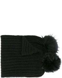 schwarzer Strick Schal von Blugirl