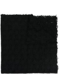 schwarzer Strick Schal von Faliero Sarti