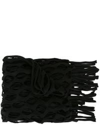 schwarzer Strick Schal von MARQUES ALMEIDA
