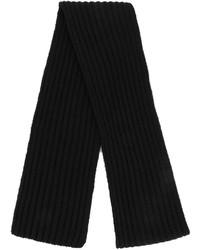 schwarzer Strick Schal von Neil Barrett