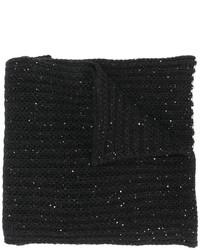 schwarzer Strick Schal von Nude