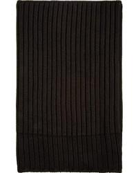 schwarzer Strick Schal von Rick Owens