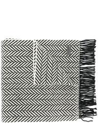 schwarzer Strick Schal von Saint Laurent
