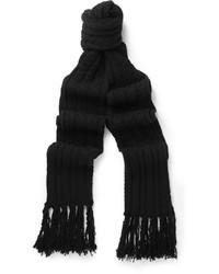 schwarzer Strick Schal von Tom Ford