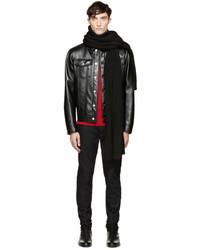 schwarzer Strick Schal von Versace