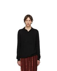 schwarzer Strick Wollpolo pullover von Tibi