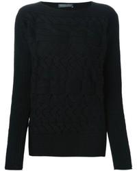 schwarzer Strickpullover von Alexander McQueen