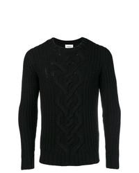 schwarzer Strickpullover von Dondup