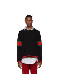 schwarzer Strickpullover von Gucci