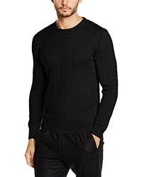 schwarzer Strickpullover von Paul James Knitwear Limited