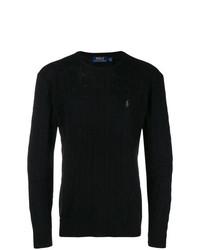schwarzer Strickpullover von Polo Ralph Lauren