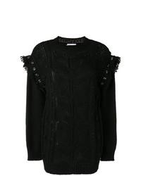 schwarzer Strickpullover von RED Valentino