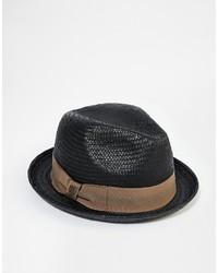 schwarzer Strohhut von Brixton