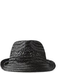 schwarzer Strohhut von DSQUARED2